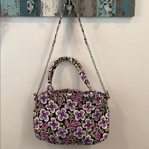 Vera Bradley Floral Shoulder Bag Purse w/ Silver